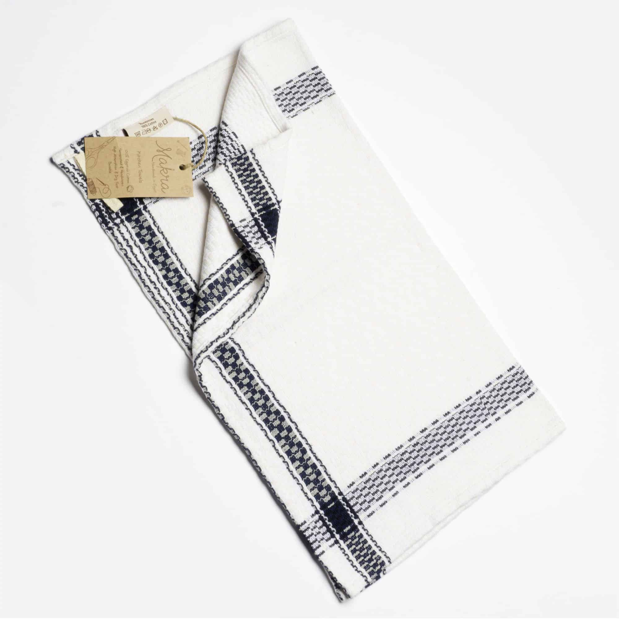 Tea And Kitchen Towel U2013 White With Blue Edge